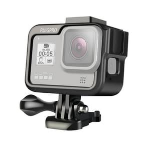 RUIGPRO for GoPro HERO8 Black Aluminium Alloy Standard Border Frame Mount Protective Case with Buckle Basic Mount & Screw(Black)