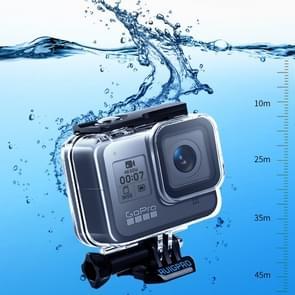 RUIGPRO voor GoPro HERO8 45m waterdichte behuizing beschermhoes met gesp basisbevestiging & schroef (transparant)