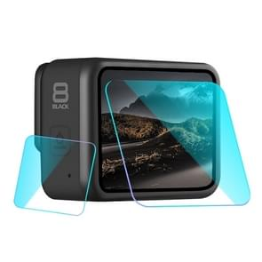 For GoPro HERO8 Black Lens + LCD Display Tempered Glass Film(Transparent)