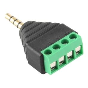 3.5mm Male Plug 4 Pole 4 Pin Terminal Block Stereo Audio Connector