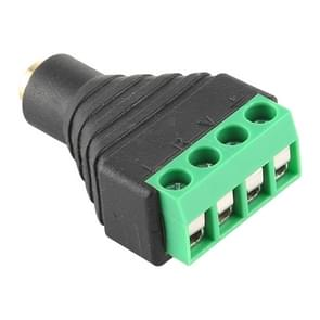 2.5mm Female Plug 4 Pin Terminal Block Stereo Audio Connector