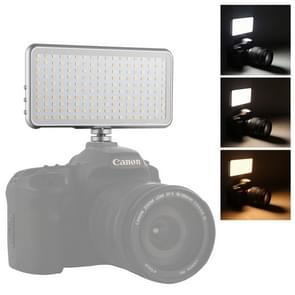 LED011S Pocket 180 LEDs professionele VLogging fotografie video & Photo Studio licht met OLED-display & koude schoen adapter mount voor Canon/Nikon DSLR-camera's
