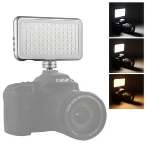 LED-013 Pocket 112 LEDs professionele VLogging fotografie video & Photo Studio licht met OLED-display & koude schoen adapter mount voor Canon/Nikon DSLR-camera's
