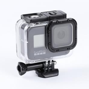 For GoPro HERO8 Black 45m Waterproof Housing Protective Case with Buckle Basic Mount & Screw (Transparent)