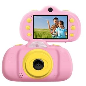 P8 2,4 inch acht-Megapixel dual-lens kinderen camera, ondersteuning voor 32GB TF-kaart (roze)