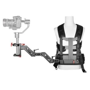 YELANGU B300 drie-assige schok-absorberende arm vest stabiliserende camera ondersteuning systeem Easy rig voor DSLR & DV digitale video camera's (zwart)