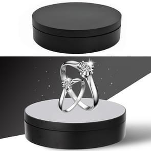 13.8 cm USB opladen Smart 360 graden roterende draaitafel display stand video-opname Props draaitafel voor fotografie  laden 3kg (zwart)