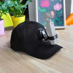 STARTRC Baseball Hat met J-Hook Buckle Mount & Screw voor Xiaomi FIMI Palm 4K Gimbal Camera (Zwart)