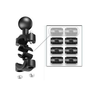 25mm Ball Head Motorcycle Rearview Mirror Fixed Mount Holder with 4 Styles Gaskets for DJI Osmo Action  GoPro HERO8 Black/HERO7 /6 /5  Xiaoyi and Other Action Cameras (Black)