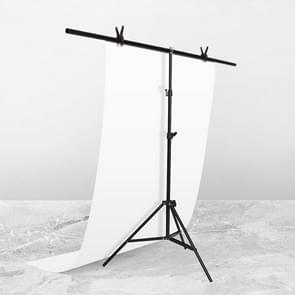 150x200cm T-Vorm FotoStudio Achtergrond Ondersteuning Steun Steun Achtergrond Crossbar Bracket Kit met clips