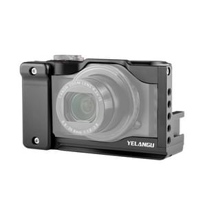 YELANGU C13 YLG0713A Video Camera Cage Stabilisator voor Canon Powershot G7X Mark III / G7X3 (Zwart)