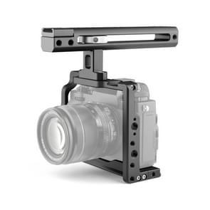 YELANGU C19 YLG0913A Video Camera Cage Stabilisator met handvat voor Fujifilim XT2 / XT3 (Zwart)