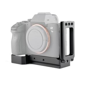 YELANGU CL6 YLG0712A Vertical Shoot Quick Release L Plate Bracket basishouder voor Sony A9 (ILCE-9) / A7 III/ A7R III(Zwart)
