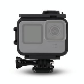 Voor GoPro HERO9 Black Plastic Frame Mount Protective Case met Base Buckle & Long Screw(Black)
