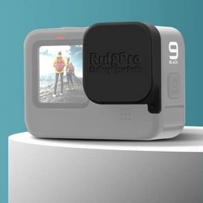 RUIGPRO voor GoPro HERO9 Zwart zacht rubber krasbestendige cameralens beschermkap (zwart)