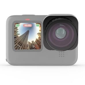 JSR Square Super Groothoek Fisheye Lens voor GoPro HERO9 Zwart (Zwart)