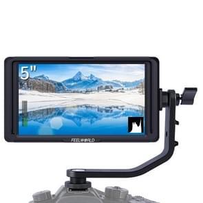 FEELWORLD F6S Full HD 1920x1080 5 0 inch IPS-scherm DSLR-cameraveldmonitor met kantelarm  ondersteuning 4K HDTV-ingang / uitvoer