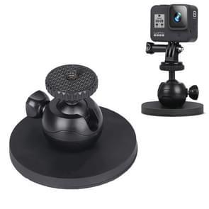 Voor GoPro HERO 8 / 6 Car Suction Cup Mount Bracket Sportcamera accessoires  Stijl: Single Zuignap (Zwart)