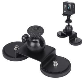 Voor GoPro HERO 8 / 6 Car Suction Cup Mount Bracket Sportcamera accessoires  grootte: M (Zwart)