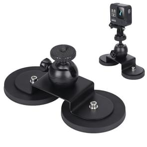Voor GoPro HERO 8 / 6 Car Suction Cup Mount Bracket Sportcamera accessoires  grootte: L (Zwart)
