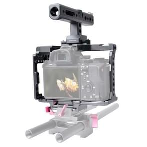 WARAXE 2751 Camera Video Quick Release Cage with Top Handle for Sony A7 & A7S & A7R & A7R II & A7S II (Grey)