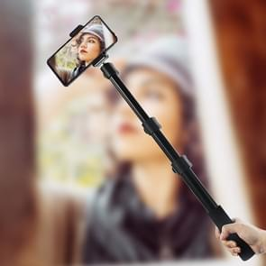 BEXIN P-264L Portable Outdoor Fotografie Camera Aluminium Legering Hand-held Lamp Stand Monopod (Zwart)