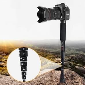 BEXIN P308C Portable Travel Outdoor DSLR Camera Aluminium Alloy Monopod Holder (Zwart)