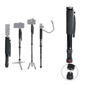 BEXIN P308B Portable Travel Outdoor DSLR Camera Aluminium Alloy Monopod Holder (Zwart)