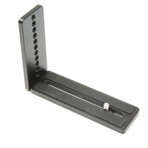 Universal Vertical Shoot Quick Release L Plate Bracket Base Holder (Black)