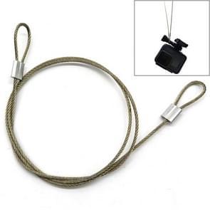 60cm actie camera universele schroef anti-lost draad veiligheids touw voor GoPro Fusion/Hero6 Black/Hero5/Xiaoyi/Xiaomi (zilver)