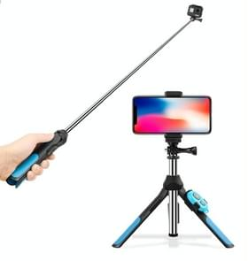 Multi-functionele inklapbare statief houder Bluetooth afstandsbediening Selfie Stick Monopod voor GoPro HERO7 /6 /5 /5 /4 sessie sessie /4 /3+/3 /2 /1  Xiaoyi Sport camera's  lengte: 19-93cm(Blue)
