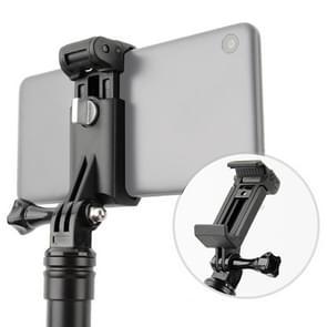 Selfie Sticks Monopods Mount telefoon klem voor iPhone  Samsung  HTC  Sony  LG en andere Smartphones(Black)