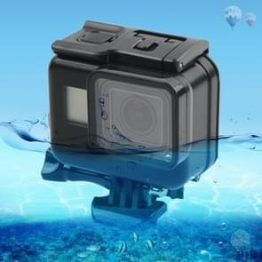 45m Waterproof Housing Protective Case + Touch Screen Back Cover for GoPro NEW HERO /HERO6 /5, with Buckle Basic Mount & Screw, No Need to Remove Lens (Black)