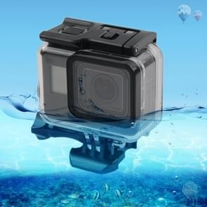 45m Waterproof Housing Protective Case + Touch Screen Back Cover voor GoPro NEW HERO /HERO6 /5  met Buckle Basic Mount & Screw  No Need to Remove Lens (Transparant)