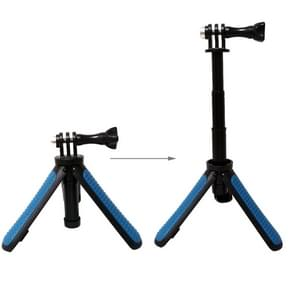 Multi-functional Foldable Tripod Holder Selfie Monopod Stick for GoPro HERO5 Session /5 /4 Session /4 /3+ /3 /2 /1, Xiaoyi Sport Cameras, Length: 12-23cm(Blue)