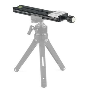NNR200 Multi-Purpose 200mm Nodal Rail Slide Plate QR Clamp Macro Panoramic Bracket (Black)
