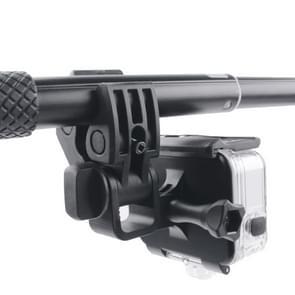 Klem Mount Adapter Kit aansluiten met waterdichte rugdekking voor GoPro  HERO 6 /5 (zwart)