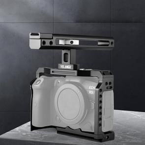 YELANGU C22 YLG0334B Video Camera Cage Stabilisator met handvat voor Canon EOS R5/R6 (Zwart)