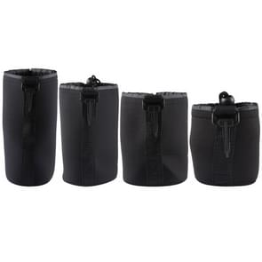 4 PCS Neoprene SLR Camera Lens Carrying Bag Pouch Bag with Carabiner, Size: 10x22cm, 10x14cm, 10x18cm, 8x10cm