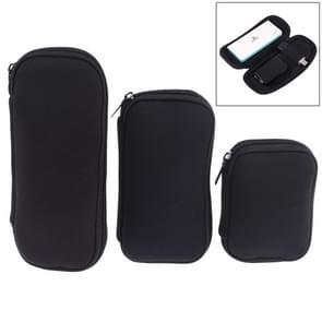 3 in 1 Neoprene U Disk Storage Bag Cover (Black)