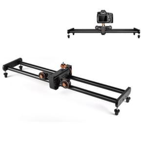 YELANGU YLG0119A 60cm Splicing Slide Rail Track + Trolley Rail Buckle voor spiegelreflexcamera's / videocamera's(zwart)