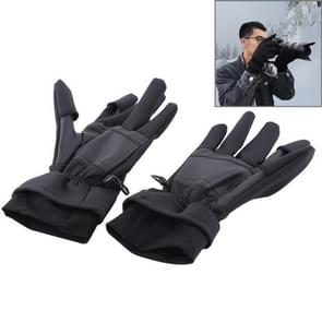Outdoor Sports Wind-stopper Full Finger Winter Warm Photography Gloves, Size: S