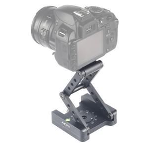 ADAI 360 graden Rotatie 3-vouwcnc aluminium quick release plaathouder Statief M Flex Tilt & Ball Head(Grijs)