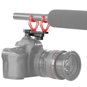 BOYA door-C30 Camera microfoon Shock Mount houder Clip met hete Shoe(Red)