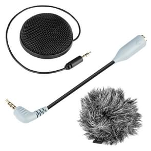 BOYA BY-MM2 Omnidirectional Stereo Condenser Microphone with Windshield for Smartphones, DSLR Cameras and Video Cameras
