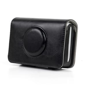 Solid Color PU Leather Case for Polaroid Snap Touch Camera (Black)