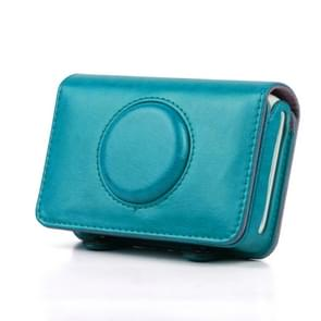 Solid Color PU Leather Case for Polaroid Snap Touch Camera (Blue)
