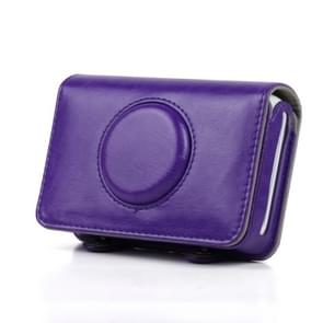 Solid Color PU Leather Case for Polaroid Snap Touch Camera (Purple)