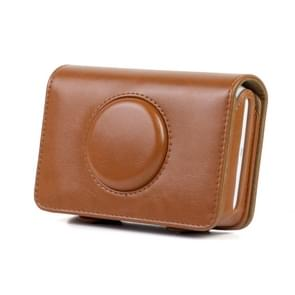 Solid Color PU Leather Case for Polaroid Snap Touch Camera (Brown)