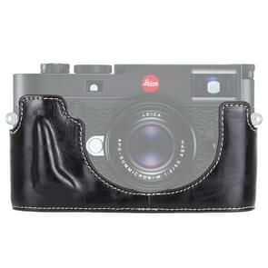 1/4 inch Thread PU Leather Camera Half Case Base for Leica M10 (Black)